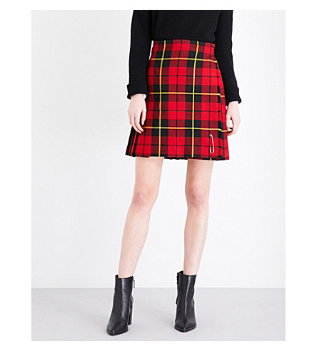 LE KILT Classic tartan wool skirt (Wallace red