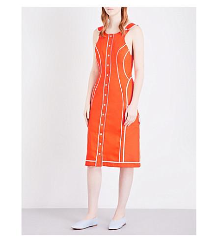 RICHARD MALONE Lady Work cotton-blend dress (Orange