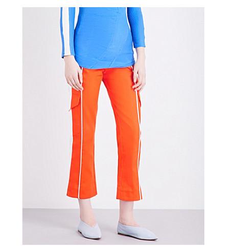 RICHARD MALONE Work cropped cotton-blend trousers (Orange