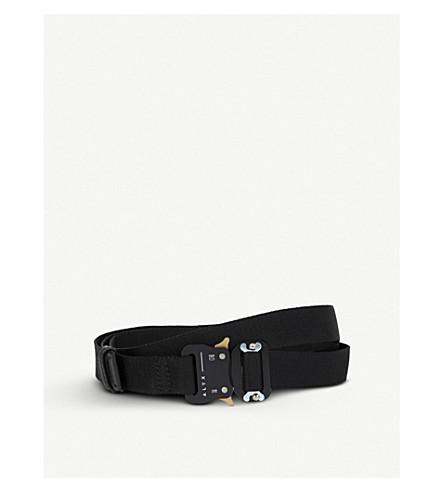 ALYX Small satin-jacquard Belt (Black