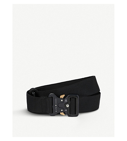 ALYX Large satin-jacquard Belt (Black