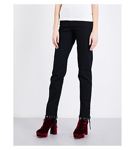 ALYX Pierced straight high-rise jeans (001-black
