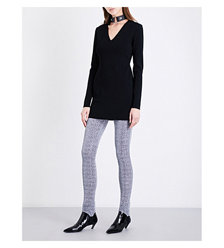 ALYX Ribbed knitted mini dress (001-black