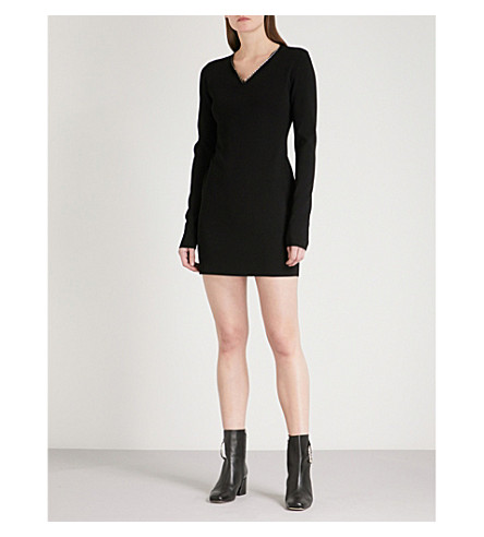 ALYX Wire-detail knitted mini dress (Black