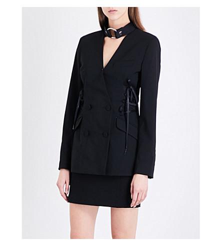 ALYX Star laced stretch-wool jacket (001-black+009/b