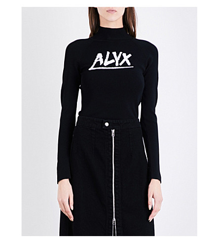 ALYX Alyx knitted turtleneck jumper (013-black/white