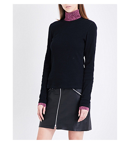 ALYX Ribbed cotton-jersey top (001-black