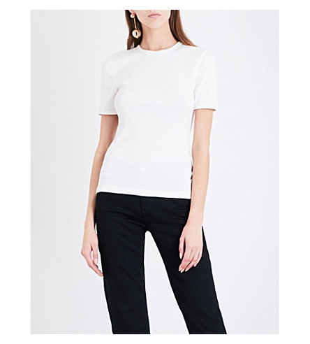 ALYX Ribbed cotton-jersey T-shirt (007-white