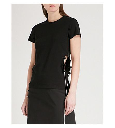 ALYX Wire-detail cotton-blend T-shirt (Black
