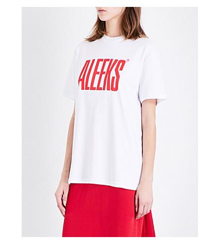 ALYX Aleeks jersey T-shirt (007-white+red+pr