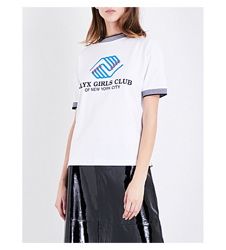 ALYX Girls Club jersey T-shirt (007-white