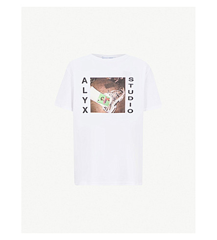 ALYX Powerpuff-print cotton-blend T-shirt (White
