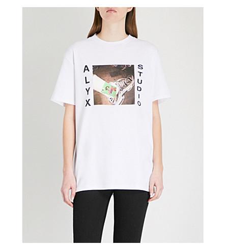 ALYX Powerpuff-print cotton-blend T-shirt (White