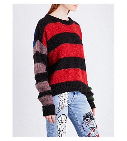 ARIES Striped knitted jumper (Multi
