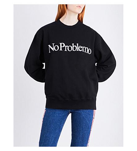 ARIES No Problemo printed cotton-jersey sweatshirt (Black