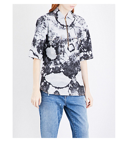 ARIES Bleached denim shirt (Bleached