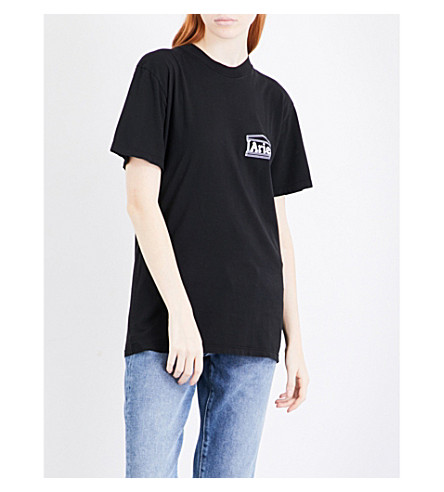 ARIES Credit Card cotton T-shirt (Black