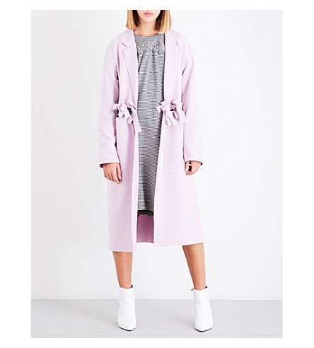 PASKAL Slit self-tie felt coat (Lilac