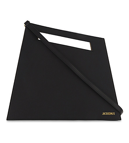 JACQUEMUS Le Grand leather tote (Black