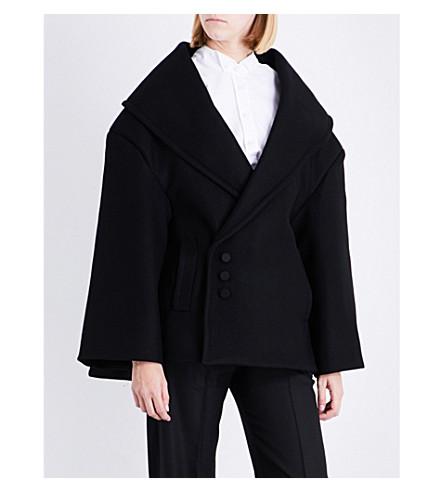 JACQUEMUS Le Caban oversized wool coat (Black