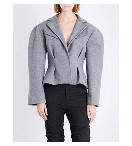 JACQUEMUS Le Petite wool-blend jacket (Light+grey