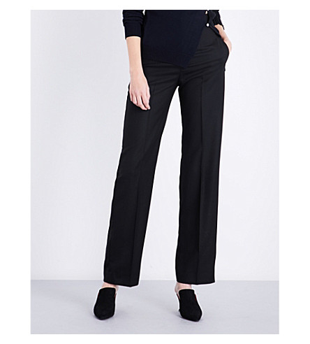 JACQUEMUS La Pantalon straight wool trousers (Black