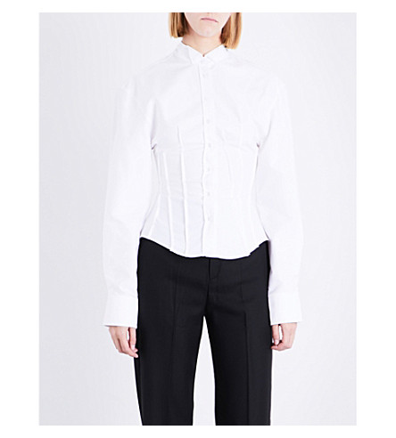 JACQUEMUS La Chemise cotton-poplin shirt (White