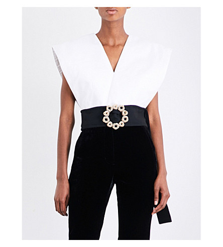JACQUEMUS Le Haut Ceinture cotton-canvas top (White