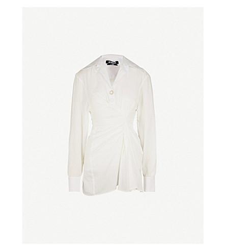JACQUEMUS La Tunique Maceio assymetric cotton dress (Off+white