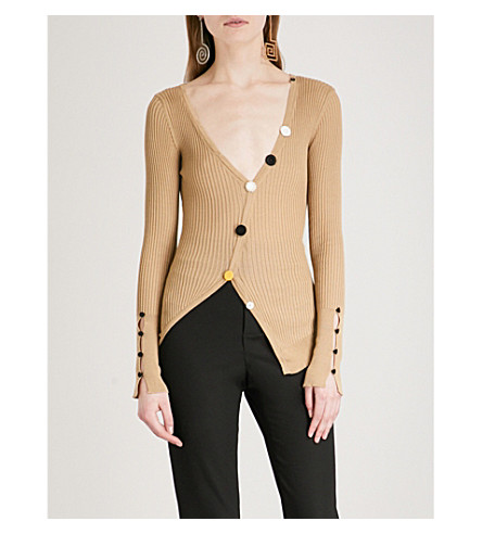 JACQUEMUS Le Cardigan Tordu cotton cardigan (Brown