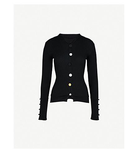 JACQUEMUS Contrast-button cotton cardigan (Black