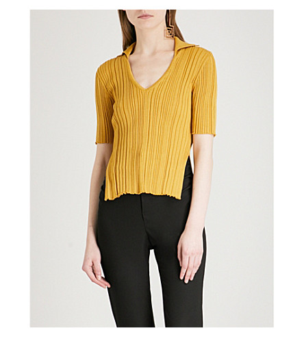 JACQUEMUS La Marinheiro cotton top (Yellow