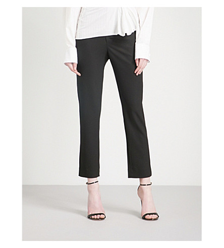 JACQUEMUS Le Corsaire ruched-side straight woven trousers (Black