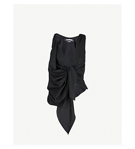 JACQUEMUS Le Top Bahia wool top (Black