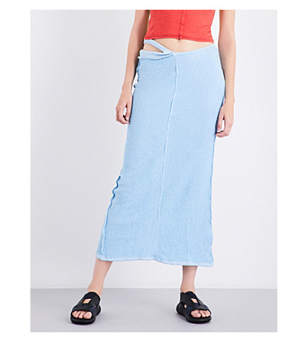 ECKHAUS LATTA Reversed cotton skirt (Baby+blue