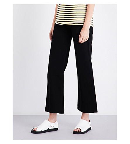 ECKHAUS LATTA Regular-fit high-rise cotton trousers (Almost+black