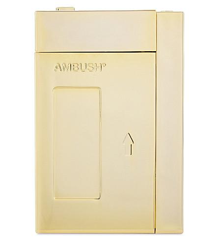 AMBUSH Cassette player cigarette case (Gld