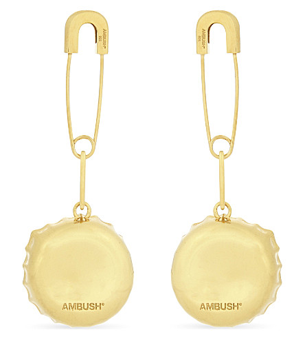 AMBUSH Bottle top earrings (Gld