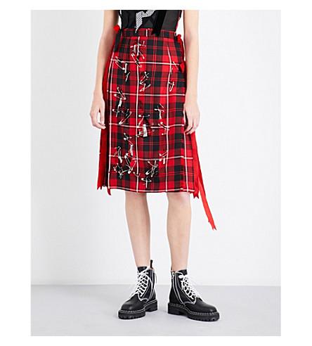 DILARA FINDIKOGLU Mansons tartan skirt (Red