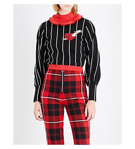 DILARA FINDIKOGLU Heart-embellished cotton-jersey sweatshirt (Multi-coloured