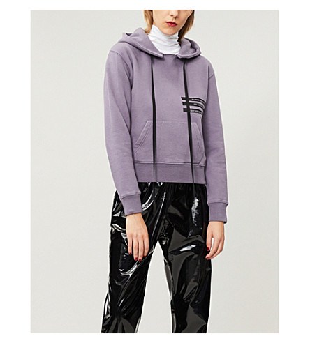 UNRAVEL Relaxed-fit cotton-jersey hoody (Lilac