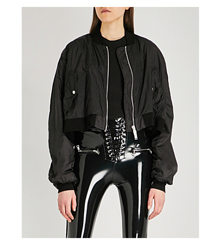 UNRAVEL Ghost Reconstructed Chop shell bomber jacket (Antracite