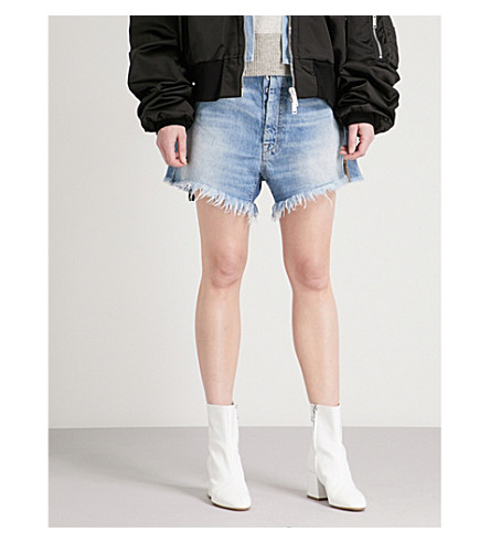UNRAVEL Baggy Boy high-rise denim shorts (Indigo+stone