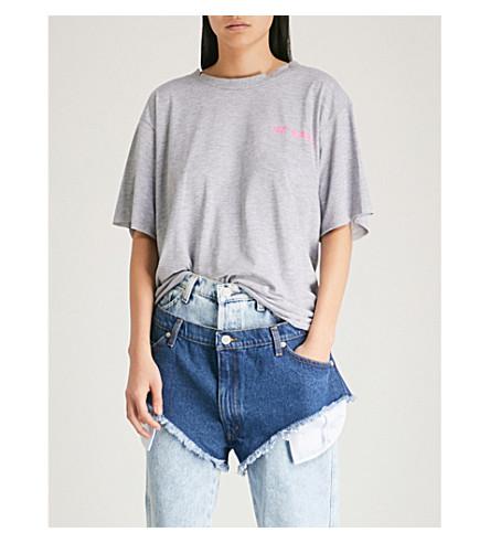 NATASHA ZINKO Logo-print cotton-jersey T-shirt (Grey