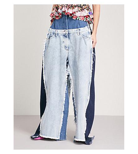 NATASHA ZINKO Oversized double relaxed-fit super high-rise jeans (Denim