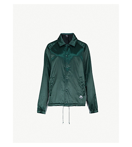 ADIDAS X ALEXANDER WANG Coach satin jacket (Green+night/+black