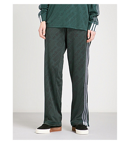 ADIDAS X ALEXANDER WANG Jacquard-pattern jersey jogging bottoms (Green+night