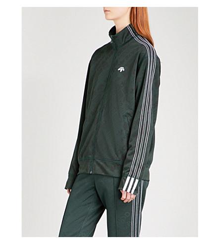 ADIDAS X ALEXANDER WANG Logo-print jacquard jersey track jacket (Green+night