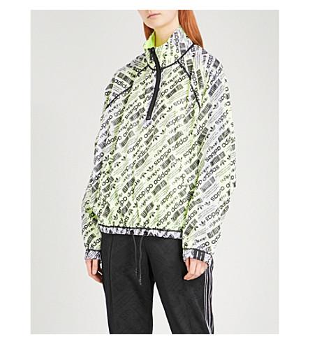 ADIDAS X ALEXANDER WANG Logo-print sports mesh shell coat (Multicoloured