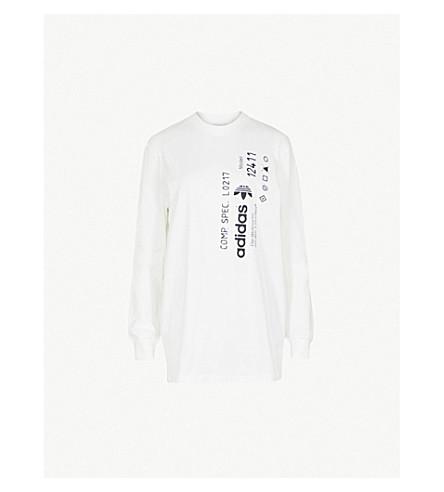 ADIDAS X ALEXANDER WANG Graphic-print cotton-jersey top (Core+white